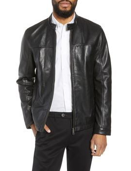 Ginga Trim Fit Leather Jacket by Ted Baker London
