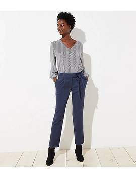 Petite Slim Tie Waist Pencil Pants In Marisa Fit by Loft
