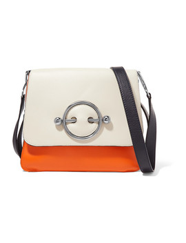 Disc Color Block Leather Shoulder Bag by Jw Anderson