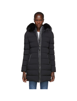Black Calla Matte Lighweight Down Coat by Mackage