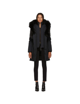 Ssense Exclusive Black Kay P Touch Down Coat by Mackage