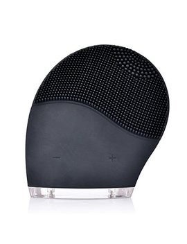Sonic Facial Cleansing Brush, Cleanser & Massager Silicon Vibrating Waterproof Facial Cleansing System Black by Ms.Dear