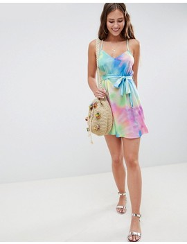 Asos Design Tie Dye Jersey Beach Dress by Asos Design