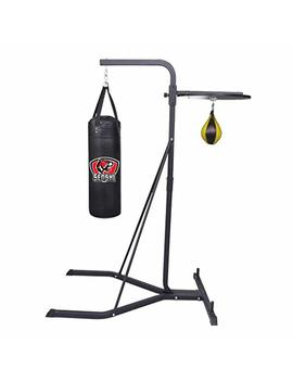 Senshi Japan Speed Ball And Punch Bag Stand   Perfect Speedball Stand For Boxing, Speed And Reaction Training   Comes With Speed Ball And/Or 3 Ft Punch Bag   Ideal For Home Gyms, Gardens, Garages, Outdoors, Etc.   Constructed With Heavy Duty Steel Fo..... by Senshi Japan
