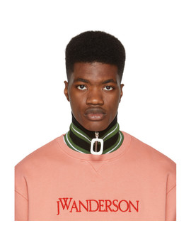 Green Thick Stripe Neck Band by Jw Anderson