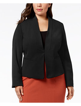 Plus Size Stand Collar Jacket by Nine West