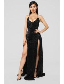 Hollywood Rooftop Party Sequin Dress   Black by Fashion Nova