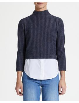 Striped Layered Top by Theory