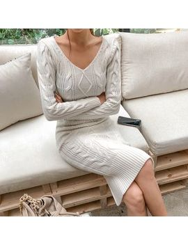 Dabagirl   Cable Knit Midi Bodycon Dress by Dabagirl