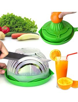 Websun Salad Cutter Bowl With Lemon Squeezer 60 Second Salad Maker, Easy Speed Salad Maker Fruit Vegetable Cutter Bowl Fast Fresh Salad Slicer by Websun