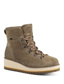 Women's Birch Round Toe Suede & Leather Booties by Ugg®