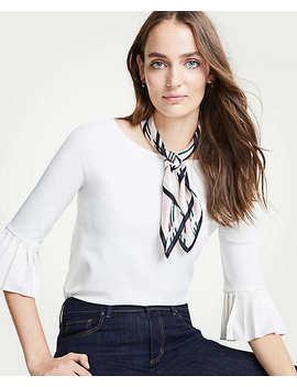 dot-floral-silk-little-scarf by ann-taylor