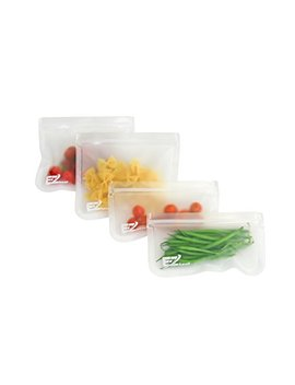 E Z Seal Extra Thick Reusable Storage Bags (5 Pack) Ideal For Food Snacks, Lunch Sandwiches, Make Up, Stationery, Travel Storage, Home Organisation And More by Strawberry Halo