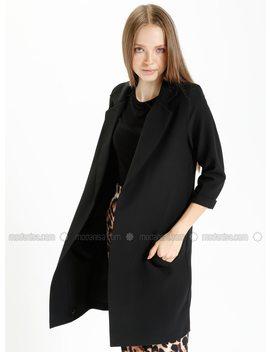 Black   Unlined   Jacket by Modanisa