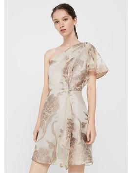 Φόρεμα οργάντζα μεταλιζέ by Mango