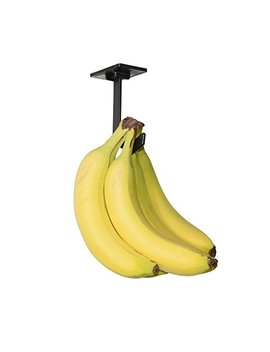 Banana Hanger   Under Cabinet Hook For Bananas Or Other Lightweight Kitchen Items. Hook Folds Up When Not In Use. Self Adhesive And Pre Drilled Holes (Screws Provided!) Keep Bananas Fresh.(Black) by The Minimalist Home