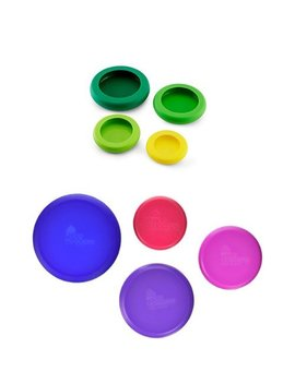 Farberware Food Huggers Reusable Silicone Food Savers, Set Of 8, Berry And Green by Farberware