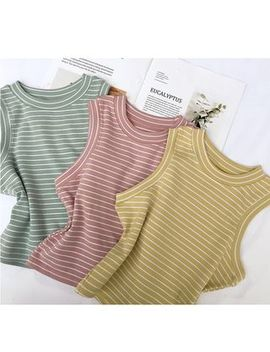 Whoosh   Striped Sleeveless Knit Top by Whoosh