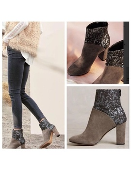 Anthropologie Cubanas Ciara Glitter Boots Size 36 by Anthropologie