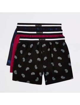Blue Loose Fit Ri Boxers Multipack by River Island