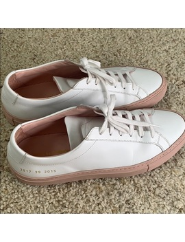 Common Projects White/Blush Sneaker 39 by Common Projects