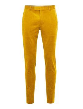 Mustard Corduroy Super Skinny Pants by Topman