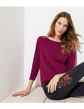 Petite Tulip Back Sweatshirt by Loft