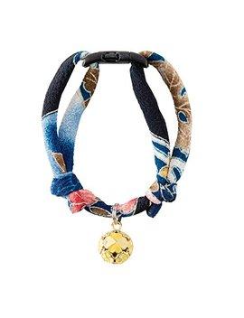 Necoichi Chirimen Cat Collar With Clover Bell by Necoichi
