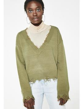 Unfinished Business Knit Sweater by Wild Honey