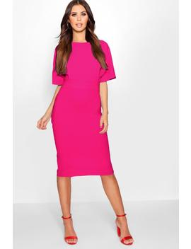 Petite Formal Wiggle Midi Dress by Boohoo