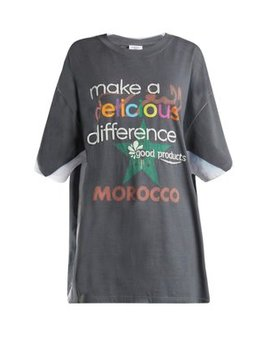 Make A Difference Print T Shirt by Vetements