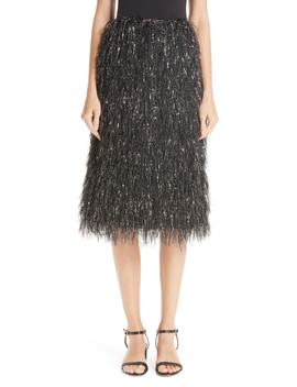 Metallic Fringe Skirt by Mansur Gavriel