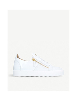 Signature Mixed Leather Trainers by Giuseppe Zanotti