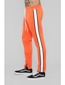 Hamilton Track Pant   Orange by Fashion Nova