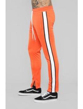 Hamilton Track Pant   Orange by Fashion Nova