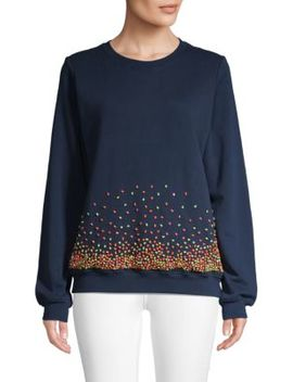 Embellished Cotton Sweater by Hemant & Nandita