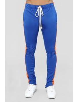 Retro Track Pant   Blue/Orange by Fashion Nova