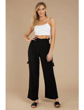 Body Party Black Wide Leg Pants by Tobi