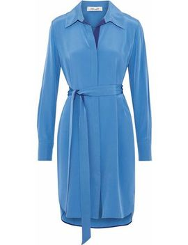 Washed Silk Mini Shirt Dress by Diane Von Furstenberg
