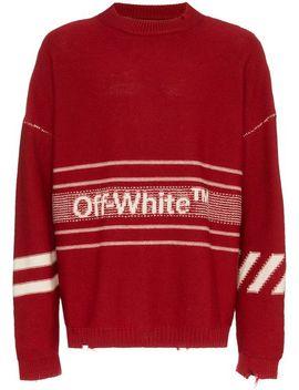 Wollpullover Mit Streifen by Off White