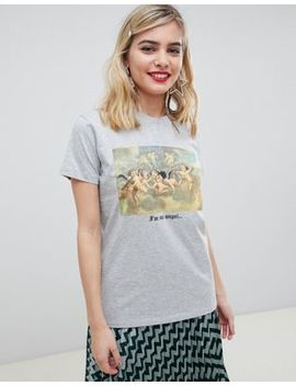 Asos Design T Shirt With Photographic Cherub Print by Asos Design