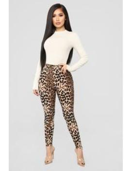 Show Them Your Spots Leggings   Leopard by Fashion Nova