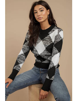 The Fifth Label Angle Black And White Knit Sweater by Tobi