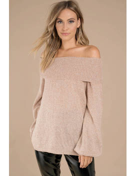 Betty Sienna Off Shoulder Sweater by Tobi
