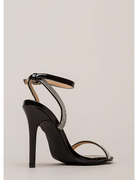 Something Sparkly Jeweled Strap Heels by Go Jane