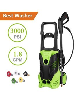 Clearance&Sale! Hifashion Pressure Washer, 3000 Psi 1.8 Gpm Electric Power Pressure Washer,Professional Washer Cleaner Machine With Adjustable 5 Spray Nozzles by Hifashion