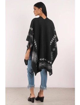 Tribal Feelings Black Poncho by Tobi