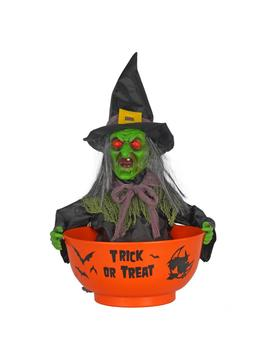 12 In. Witch Candy Bowl With Led Illumination by Home Accents Holiday