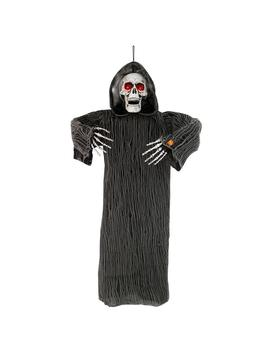 48 In. Hanging Animated Grim Reaper With Lights And Sound by Home Accents Holiday