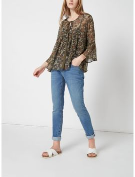 Ditsy Printed Gypsy Blouse by Maison De Nimes